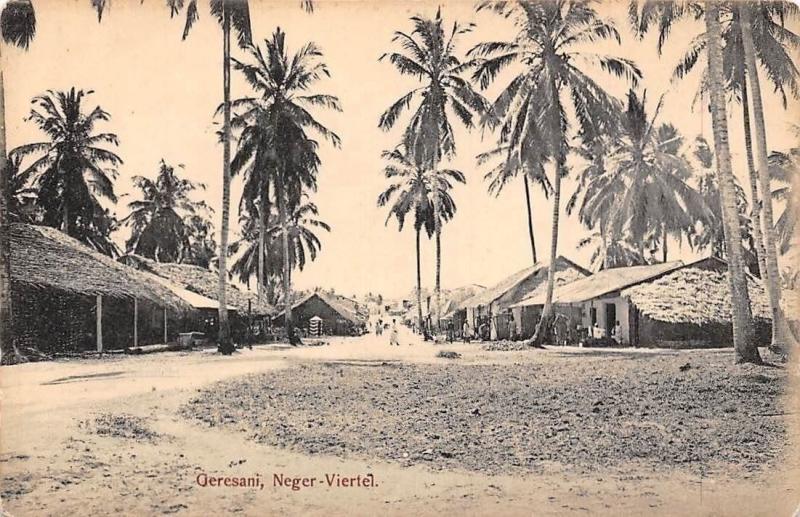 German East Africa Tanzania Zanzibar, Geresani Neger-Viertel, Palm Trees