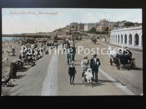 c1909 - Bournemouth, Undercliffe Drive, excellent animated scene