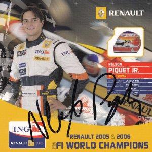 Nelson Piquet Formula 1 Grand Prix 7x7 Unique Hand Signed Photo