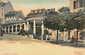 KARLSBAD CZECHOSLOVAKIA~SCHLOSSBRUNN~1900s BRUCK TINTED PHOTO POSTCARD