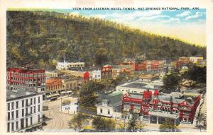 Hot Springs National Park Arkansas 1920s Postcard View From Eastman Hotel Tower
