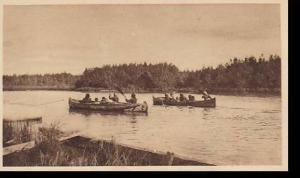 Missions D'Extreme Nord Canadien Serie VI Les Sauvagesses en canot d'ecorce