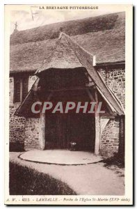 Postcard Old Lamballe Porch of the Church of St. Martin XVI century