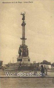 Monumento del 2 de mayo Lima, Peru Unused