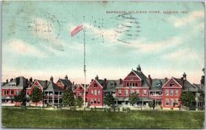 postcard IN - Barracks, Soldiers Home, Marion Indiana