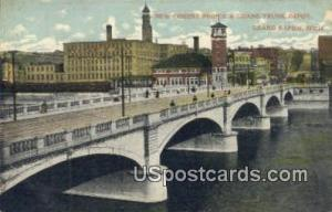 New Cement Bridge & Grand Trunk Depot Grand Rapids MI Unused
