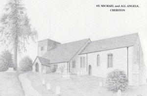 St Michael & All Angel Cheriton Church Devon Plain Back Postcard