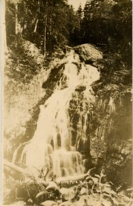 NH - Crawford Notch. Crystal Cascade. *RPPC  *RPO-Newport & Island Pond Railroad