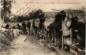 CPA AK INDOCHINA Tonkin Village du Papier VIETNAM (956980)