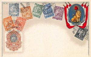 Paraguay Stamps on Early Postcard, Used, Published by Ottmar Zieher