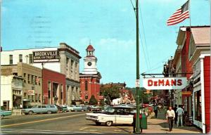 Brookville Pennsylvania~Main Street~Bank & Trust~DeMan's~Bar~1950-60s Cars PC