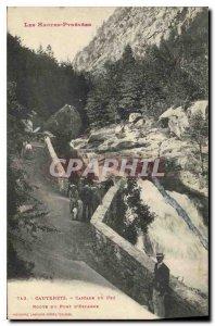 Old Postcard The High Pyrenees Cauterets Cascade Pre Spain Bridge Road