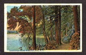 NEW YORK NY WOODBOURNE Greetings from Postcard PC