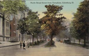 GALESBURG, Illinois, 00-10s; North Braod Street from Tompkins