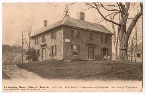 Earl Perry's Headquarters + Hospital, Lexington Mass