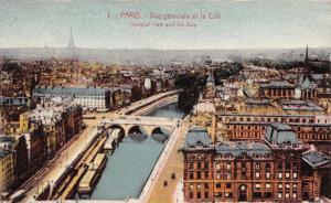 Vintage Postcard PARIS General View of the City France #P