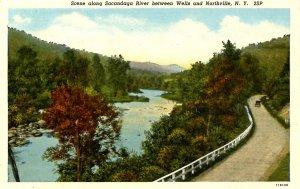 NY - Northville. Scene Along Sacandaga River