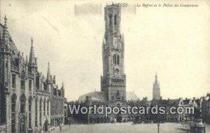 Le Beffroi et le Palais du Gouverneur Bruges, Belgium Unused
