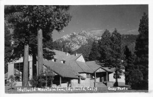 RPPC Idyllwild Mountain Inn, Idyllwild, CA Gray Photo ca 1950s Vintage Postcard