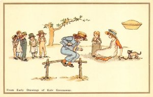 Artist Signed Kate Greenaway From Early Drawings Reproduction Unused
