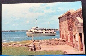 Fort Sumter Boat Tour South Carolina Vintage Postcard