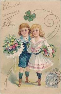 PFB Serie 3555 Young Girl & Boy with Flowers