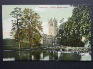 Cheshire MACCLESFIELD Gawsworth Church c1903 Postcards by Valentine
