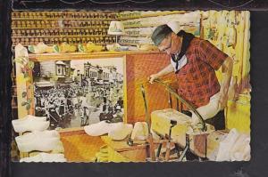Wooden Shoe Carver,Holland,MI Postcard