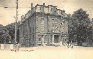 Lexington MA Town Hall Real Photo Postcard