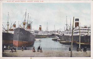 SAINT JOHN, New Brunswick, Canada, PU-1926; Slip At Sand Point, Ship
