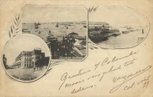 ceylon, COLOMBO, Grand Oriental Hotel, Harbour, Landing Jetty (1898) Multiview