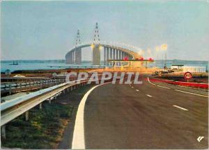 Postcard Modern Bridge St Nazaire Mindin Lng North viaduct 1172 m