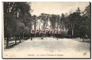 Noyon Old Postcard The course and bandstand