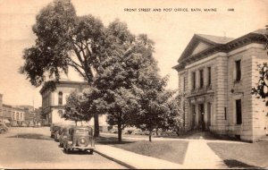 Maine Bath Front Street and Post Office