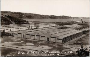 NZ & South Seas Exhibition Site 1925-26 New Zealand Double C Print Postcard E56