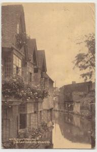 Kent; The Canterbury Weavers PPC By Photochrom, 1914, To Miss Lythall, Taunton