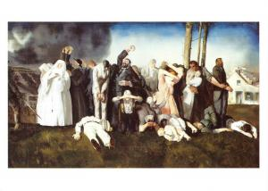 Art Postcard, Massacre at Dinant (1918) WW1 Great War by George Bellows MU1982