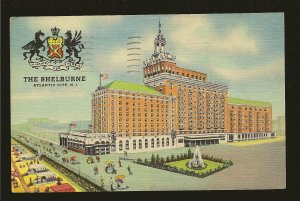 USA Postmark 1951 Atlantic City NJ The Shelburne on The Boardwalk Linen Postcard