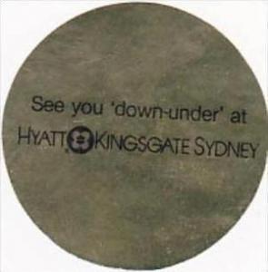 AUSTRALIA SYDNEY HYATT HOTEL KINGSGATE VINTAGE LUGGAGE LABEL