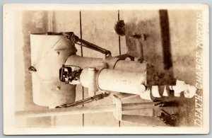 RPPC Real Photo Postcard c1915 WWI Era~Death Charge Bombshell Mortar