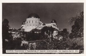 California Los Angeles Griffith Observatory & Planetarium Real Photo