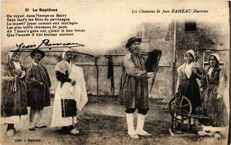 CPA Le Baptéme Les Chansons de Jean Rameau FRANCE FOLKLORE (789543)