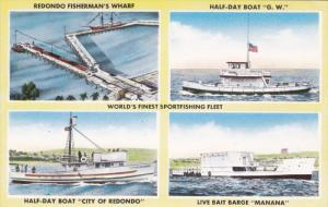 Boats & Pier , REDONDO , California , 50-60s #2