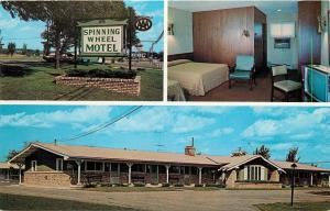 Spinning Wheel Motel Baraboo Wisconsin WI 8th Street Vern Alice Krause Postcard