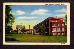 ME Vintage Sisters Hospital Waterville Maine Postcard Carte Postale
