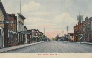 BRITT , Iowa, PU-1909 ; Main Street