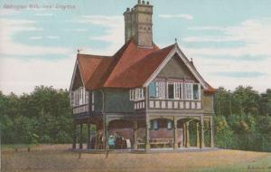Family Gatherine at Addington Hills Croydon Antique Rare Surrey Postcard