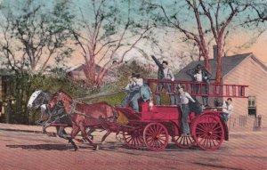 BOISE , Idaho , 1900-10s ; Horse Drawn Fire Wagon