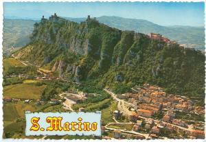 Republic of San Marino, Air view of the Titano Mountain, unused Postcard