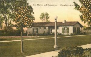 Albertype Bungalows San Marcos Chandler Arizona 1943 Postcard 4661